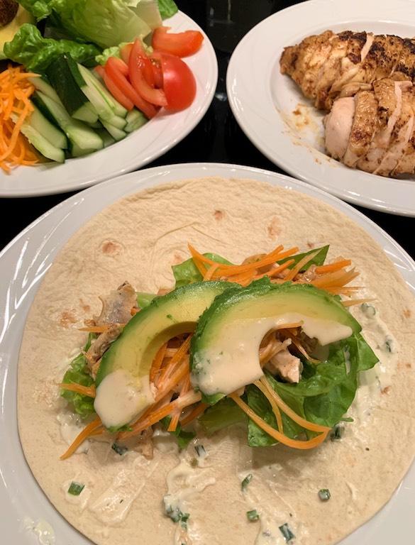 ingredients for this chicken caesar salad recipe