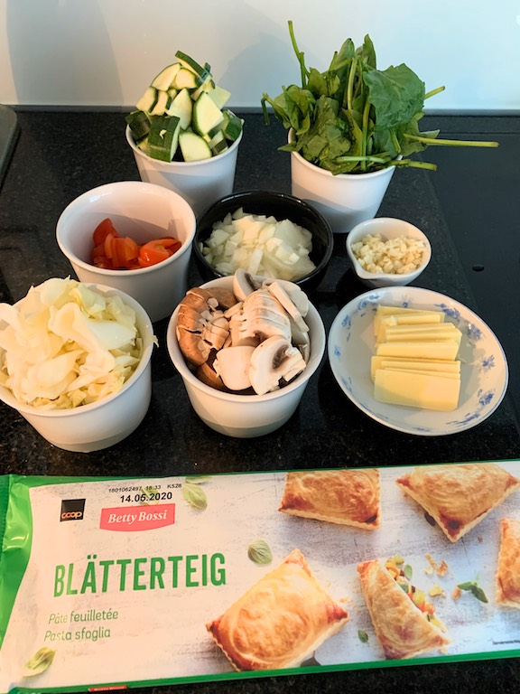 Delicious vegetable puff pastry pocket recipe. This vegetarian dish is the perfect comfort food for everyone!