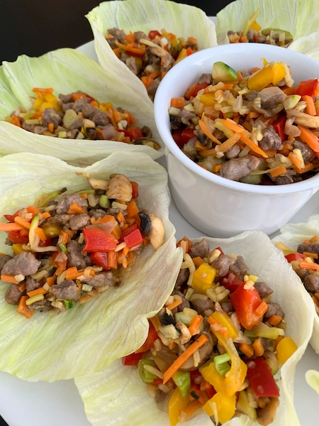 Ground Beef Lettuce Cups