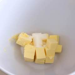 add butter and sugar into a bowl